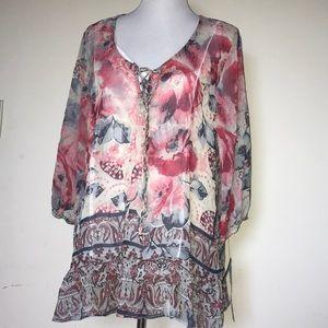 Style&Co 2 piece garment blouse.